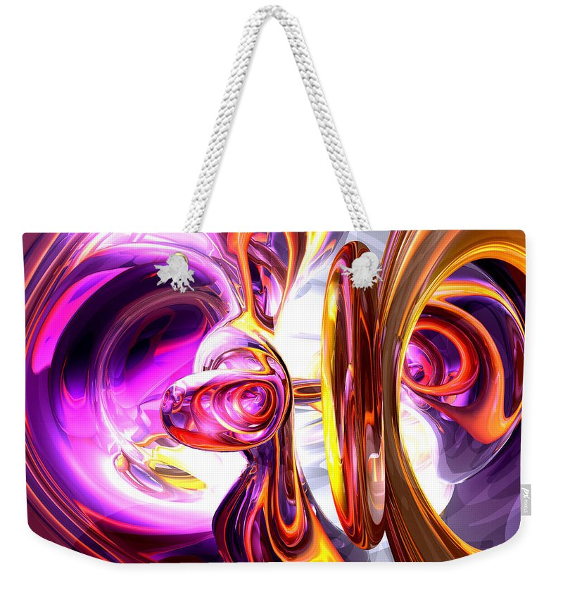 3d Weekender Tote Bag featuring the digital art Soundwave Abstract by Alexander Butler