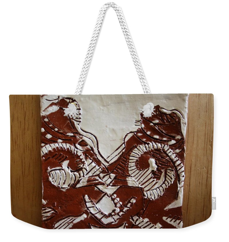 Jesus Weekender Tote Bag featuring the ceramic art Sources - Tile by Gloria Ssali
