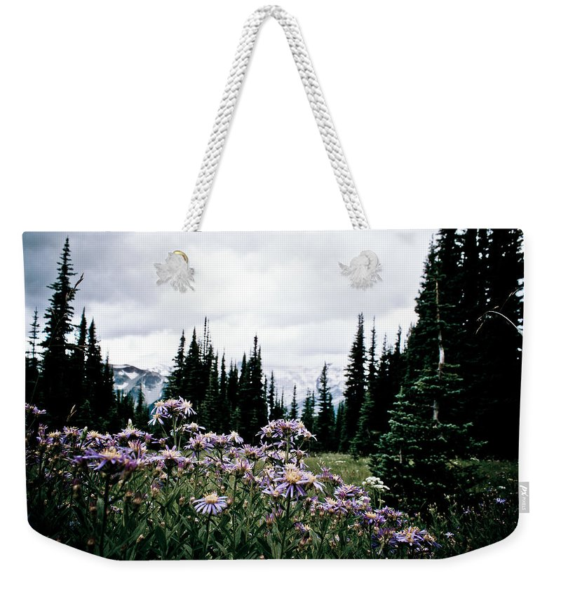 Mount Rainier National Park Weekender Tote Bag featuring the photograph Sourdough Ridge Trail #2 by Robert J Caputo