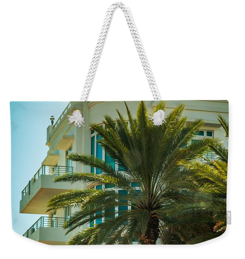 South Beach Weekender Tote Bag featuring the photograph South Beach Vibes by Karen Wiles