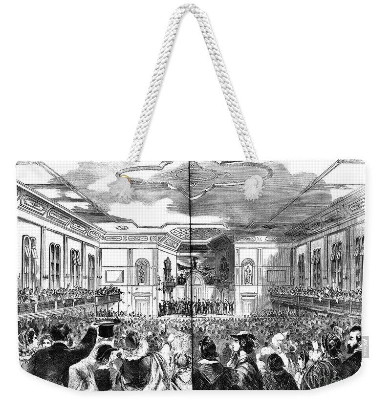 1860 Weekender Tote Bag featuring the photograph South Carolina: Secession by Granger