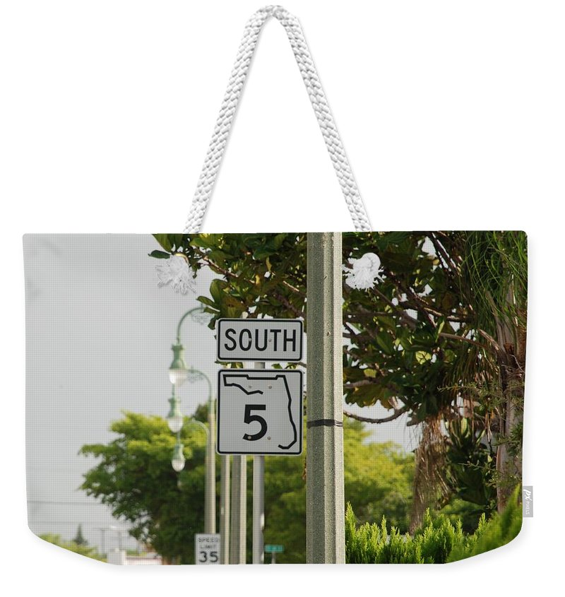 South Weekender Tote Bag featuring the photograph South Florida 5 by Rob Hans
