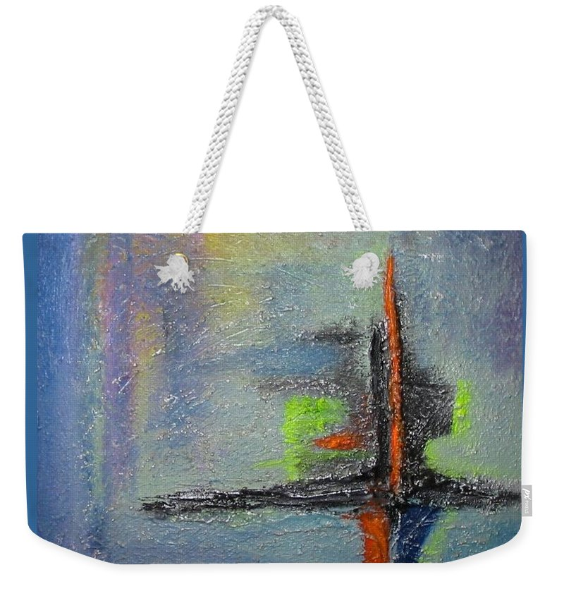 Mixed Media Weekender Tote Bag featuring the mixed media South Star by Dragica Micki Fortuna