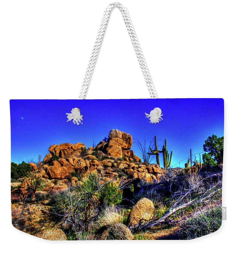 Arizona Weekender Tote Bag featuring the photograph Southbound On Us 93 by Roger Passman