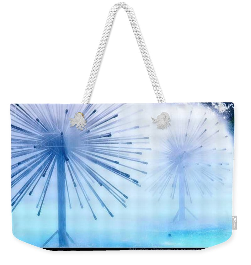 Clay Weekender Tote Bag featuring the photograph Southern California Fountains by Clayton Bruster