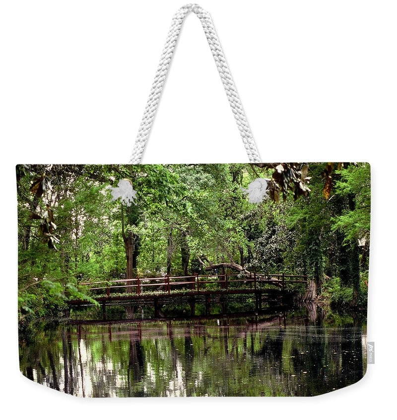 Bridge Weekender Tote Bag featuring the photograph Plantation Living by Gary Wonning