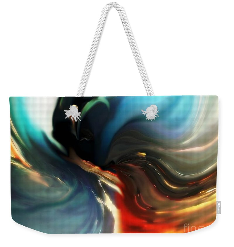 Abstract Weekender Tote Bag featuring the digital art Southern Comfort by Lex Halakan
