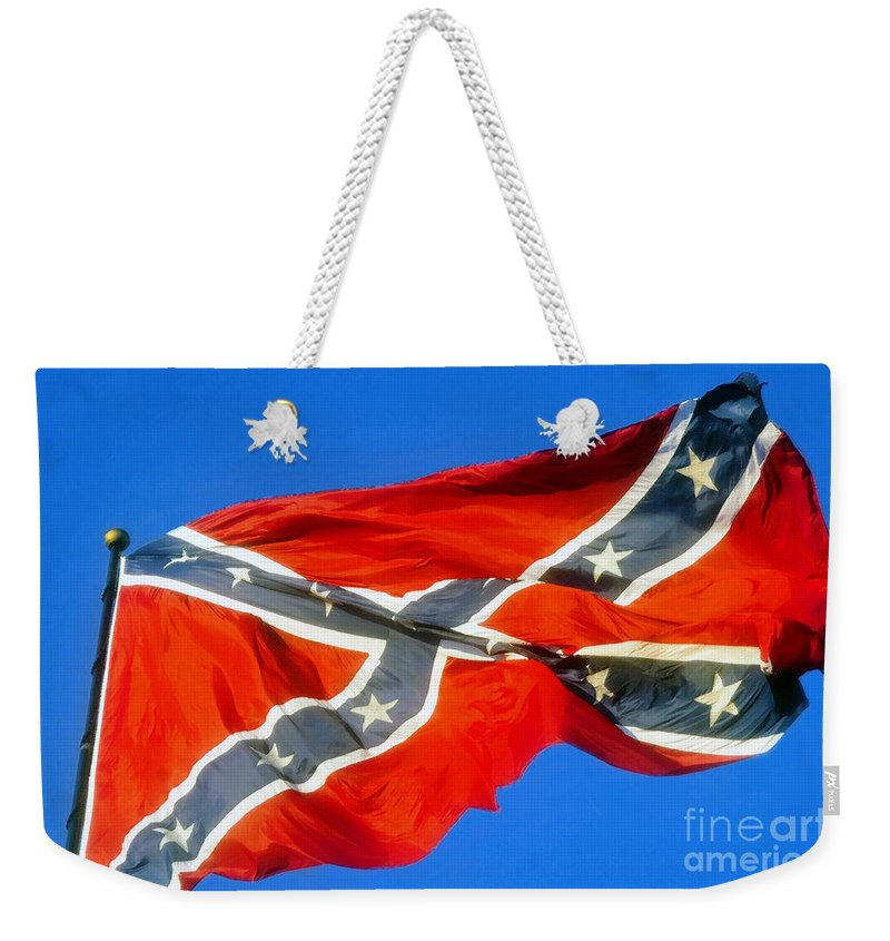 Southern Heritage Weekender Tote Bag featuring the painting Southern Heritage by David Lee Thompson