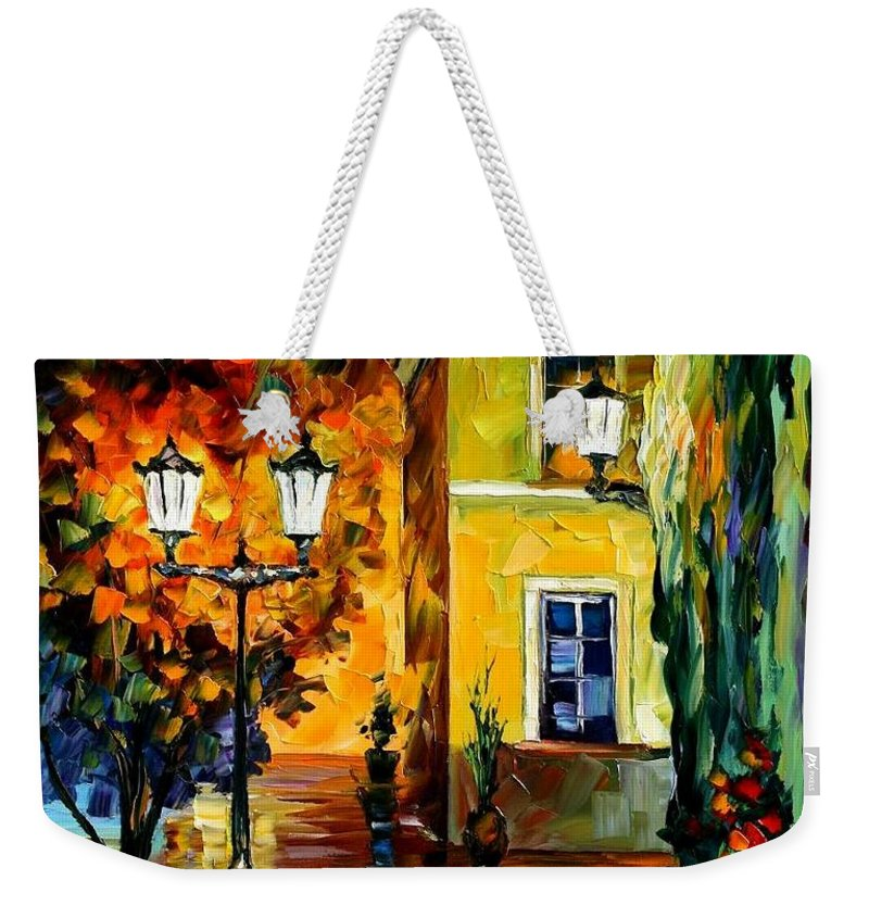 Afremov Weekender Tote Bag featuring the painting Southern Night by Leonid Afremov