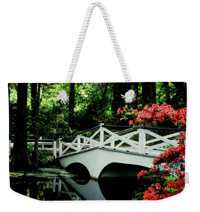 White Bridge Weekender Tote Bag featuring the photograph Southern Splendor by Gary Wonning