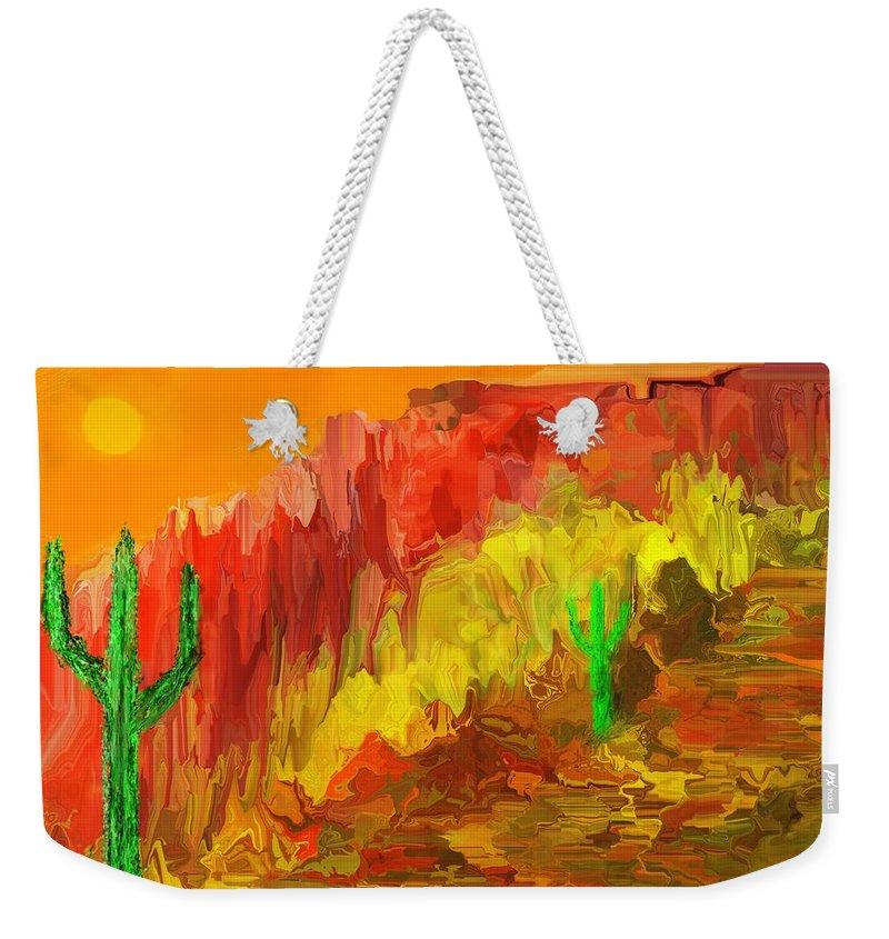 Landscape Weekender Tote Bag featuring the digital art Southwest Memories by David Lane