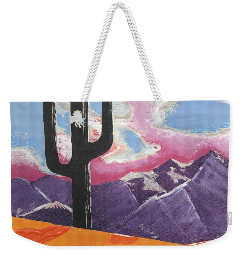 Impressionist Painting Weekender Tote Bag featuring the painting Southwest Skies 2 by J R Seymour