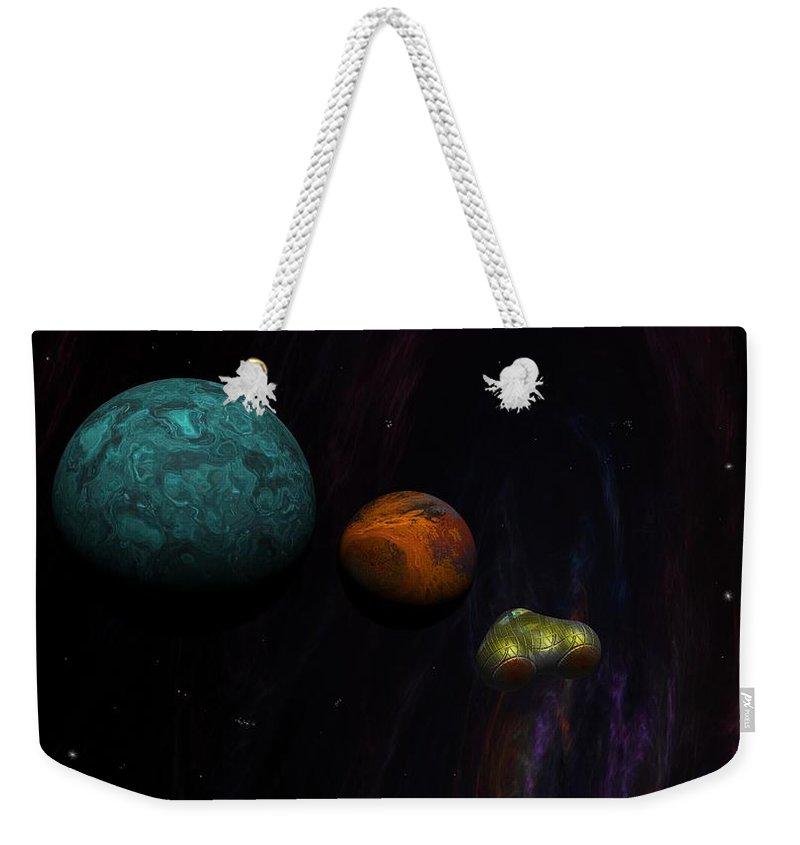Digital Painting Weekender Tote Bag featuring the digital art Space 01-26-10 by David Lane