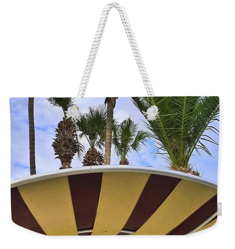 Space Age Salad Bar Weekender Tote Bag featuring the photograph Space Age Salad Bar by Skip Hunt