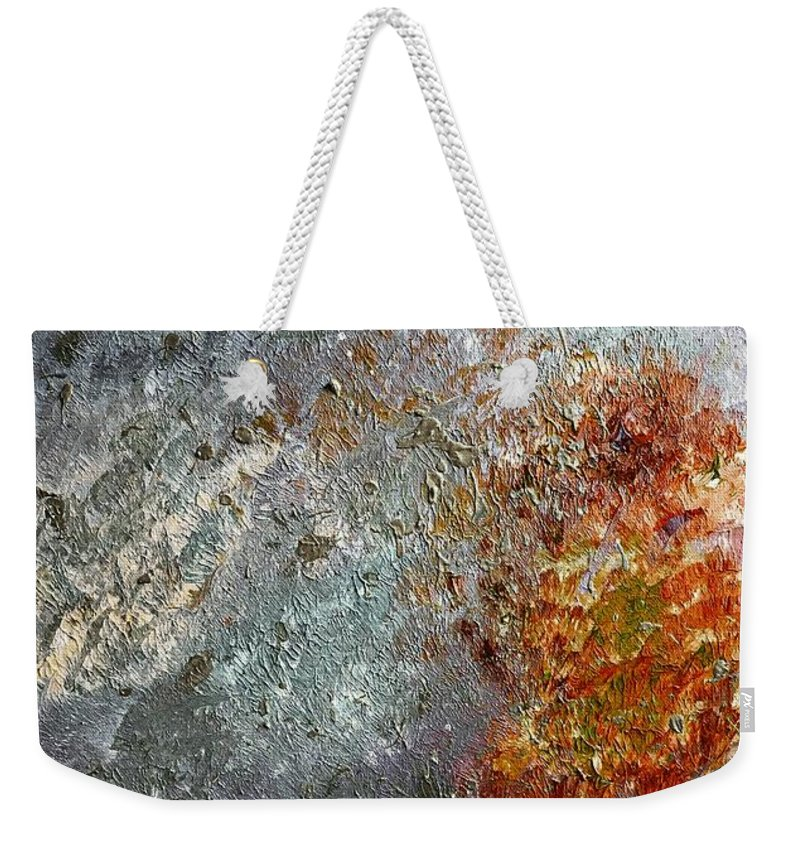 Artwork Weekender Tote Bag featuring the painting Space by Amelle Eley