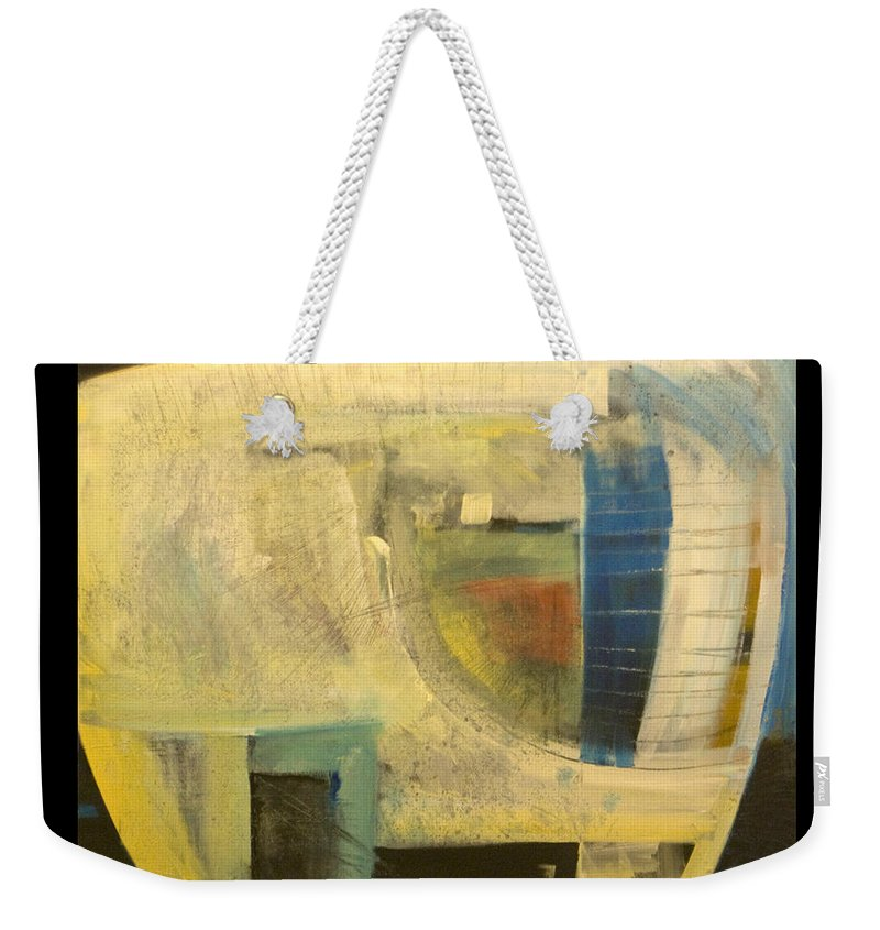Dog Weekender Tote Bag featuring the painting Space Dog by Tim Nyberg
