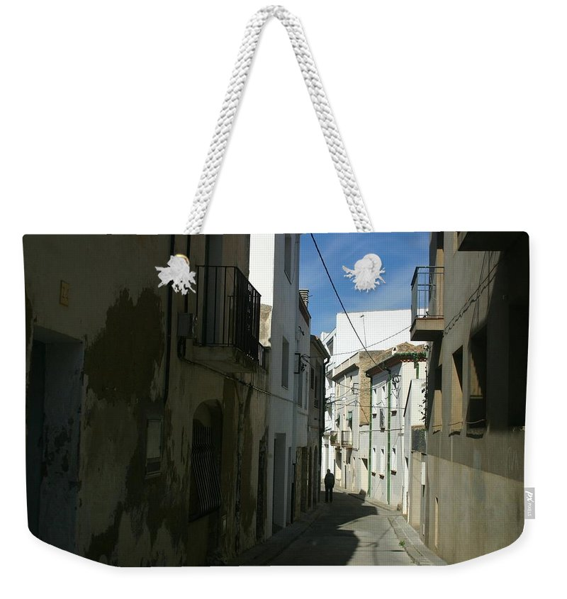 Spain Weekender Tote Bag featuring the photograph Spain One Way by Minaz Jantz