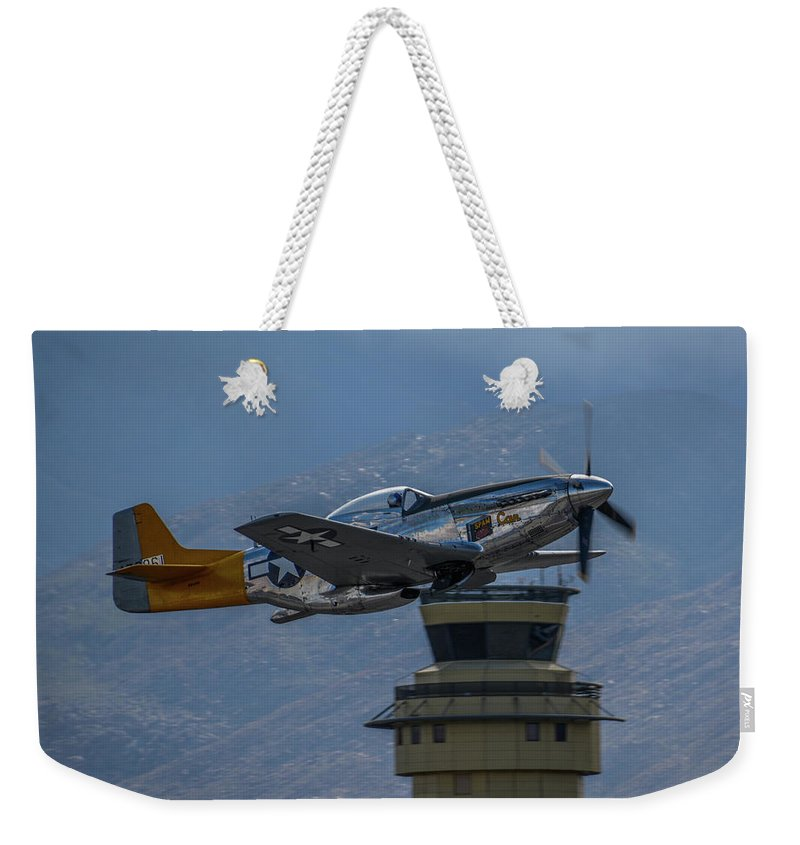 California Weekender Tote Bag featuring the photograph Spam Can by Tommy Anderson