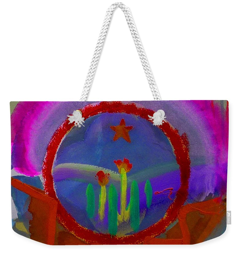 Love Weekender Tote Bag featuring the painting Spanish America by Charles Stuart