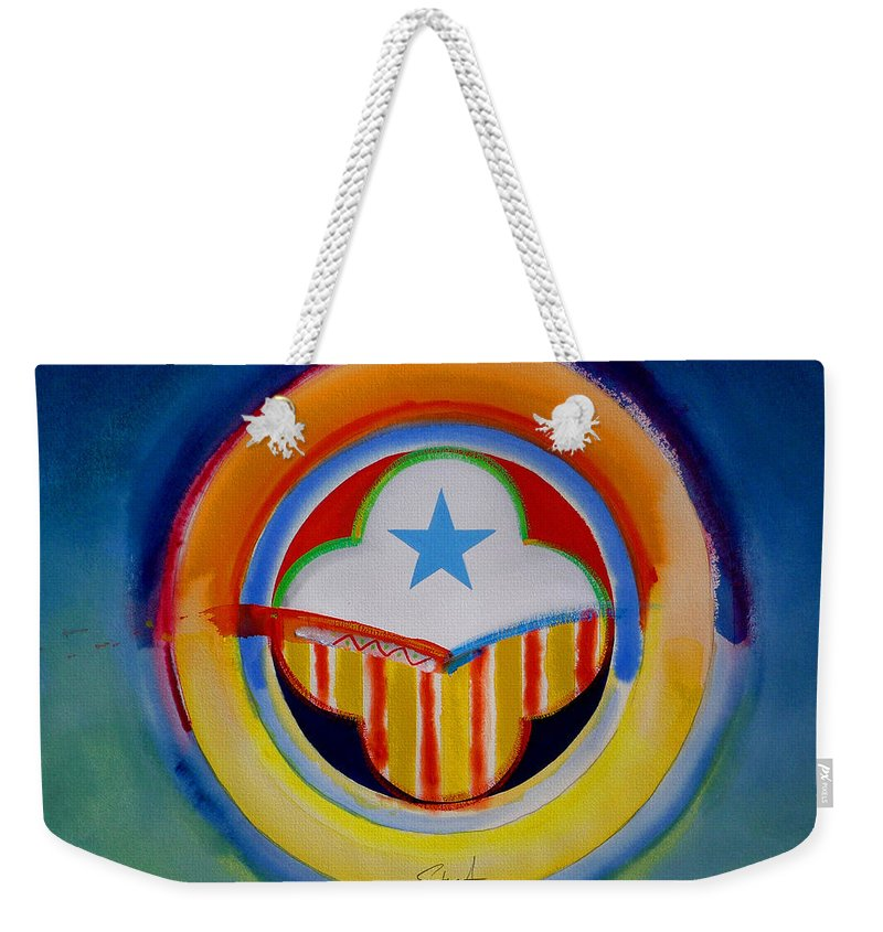 Button Weekender Tote Bag featuring the painting Spanish American by Charles Stuart
