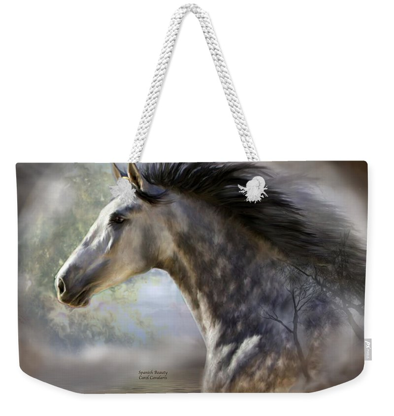 Horse Weekender Tote Bag featuring the mixed media Spanish Beauty by Carol Cavalaris