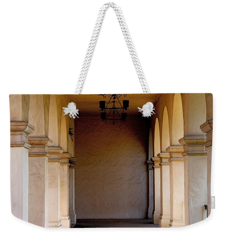 Corridors Weekender Tote Bag featuring the photograph Spanish Corridor by Rose Webber Hawke