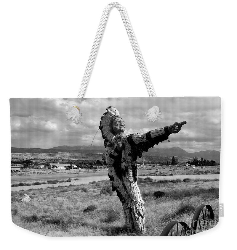 Moab Utah Weekender Tote Bag featuring the photograph Spanish Valley Indian by David Lee Thompson
