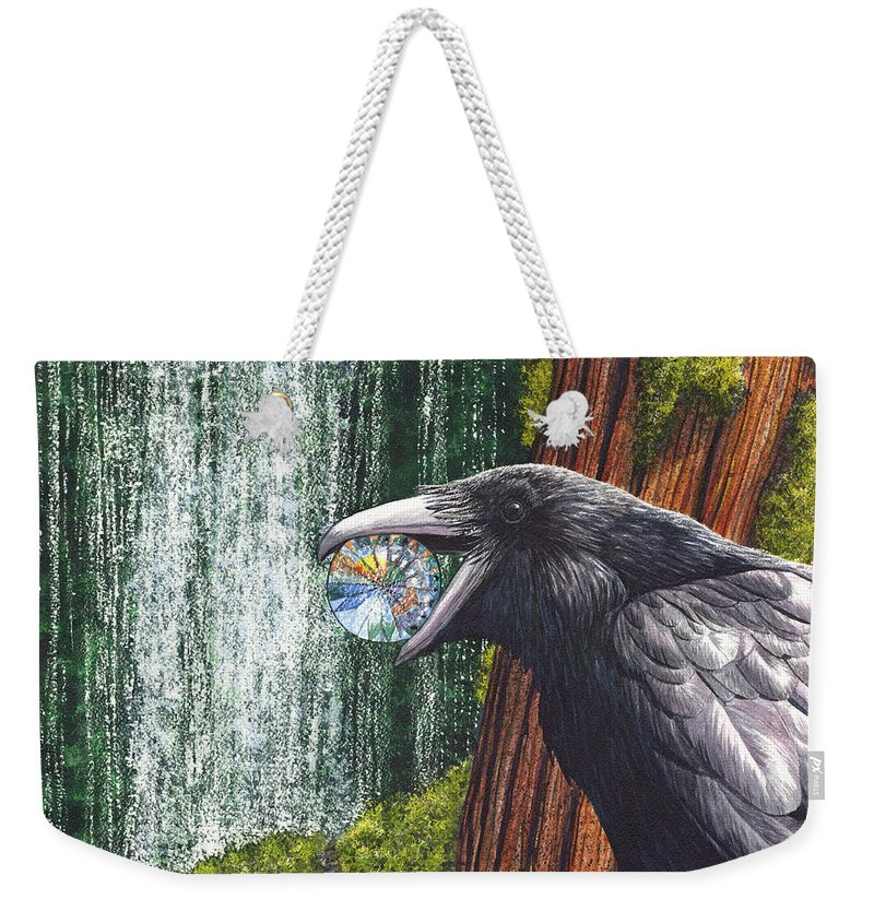 Raven Weekender Tote Bag featuring the painting Sparkle by Catherine G McElroy