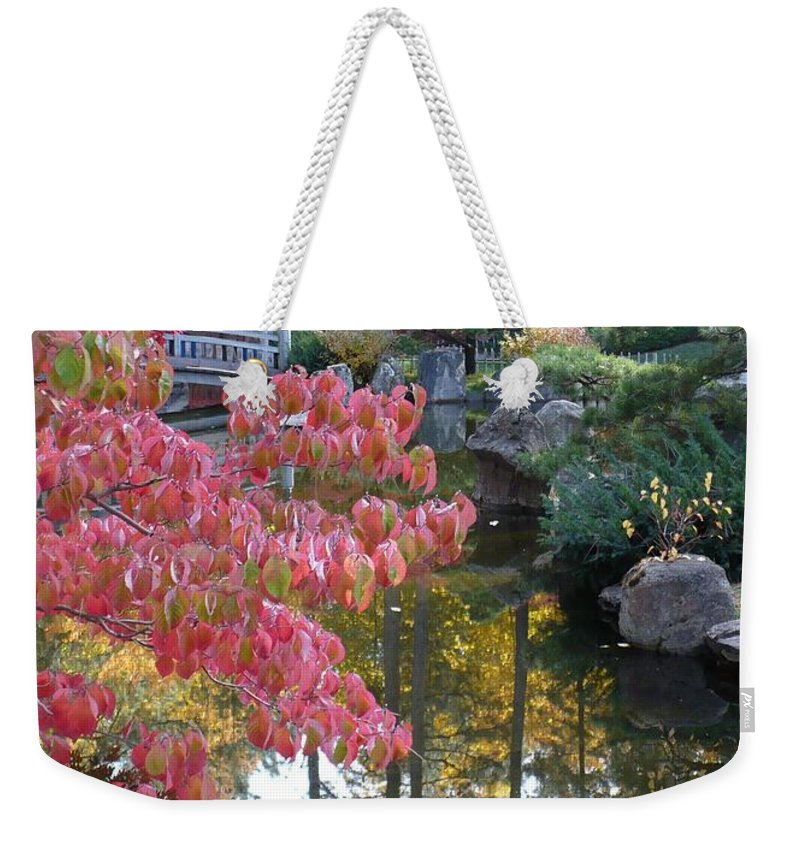 Fall Weekender Tote Bag featuring the photograph Sparkling Autumn Reflection by Carol Groenen