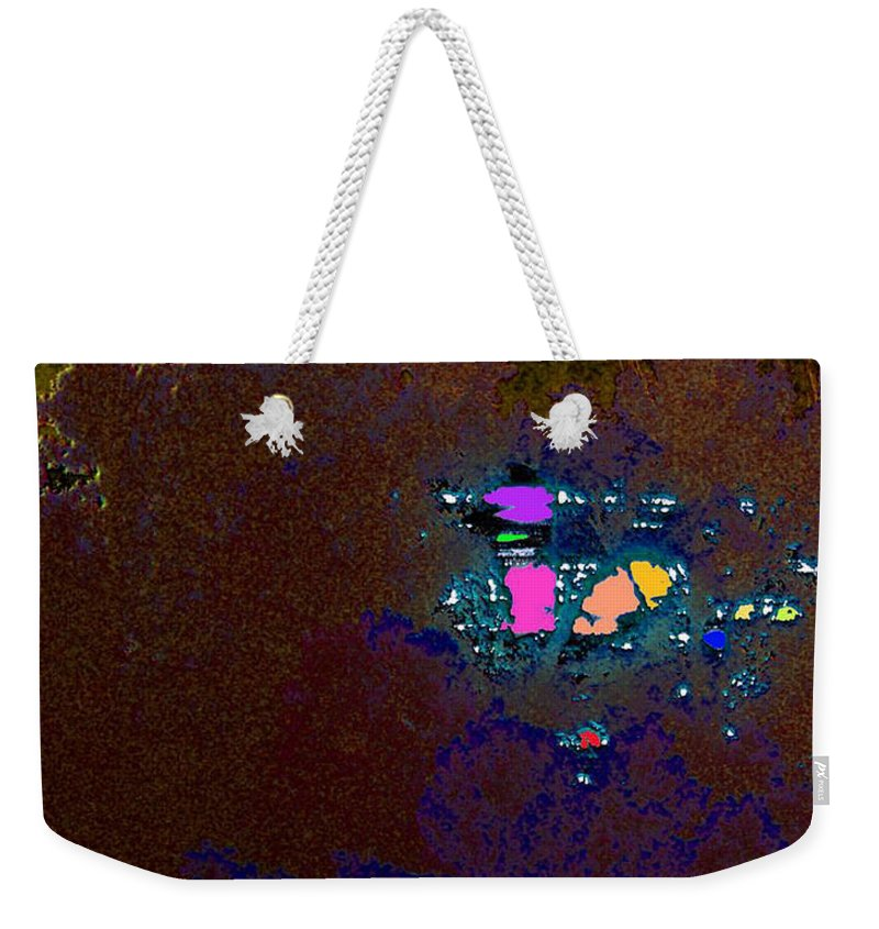 Abstract Weekender Tote Bag featuring the digital art Sparkling Sunrise by Rachel Christine Nowicki