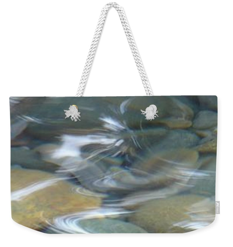 Sparkling Water Weekender Tote Bag featuring the photograph Sparkling Water On Rocky Creek 1 by Carol Groenen