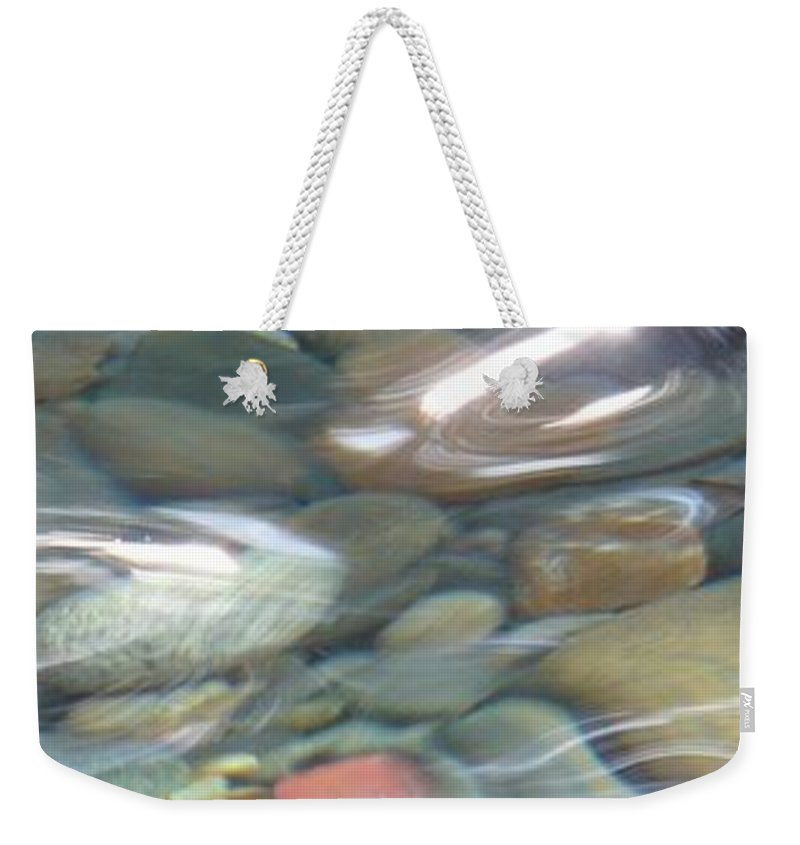 Sparkling Water Weekender Tote Bag featuring the photograph Sparkling Water On Rocky Creek 2 by Carol Groenen