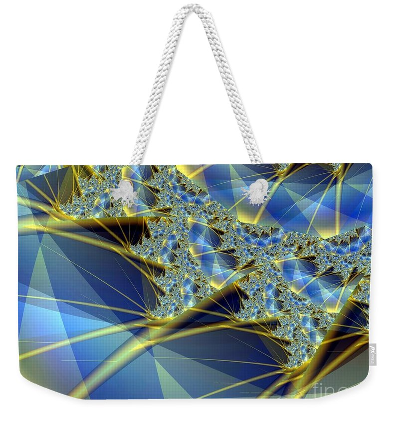 Diamonds Weekender Tote Bag featuring the digital art Sparkling Web by Ron Bissett