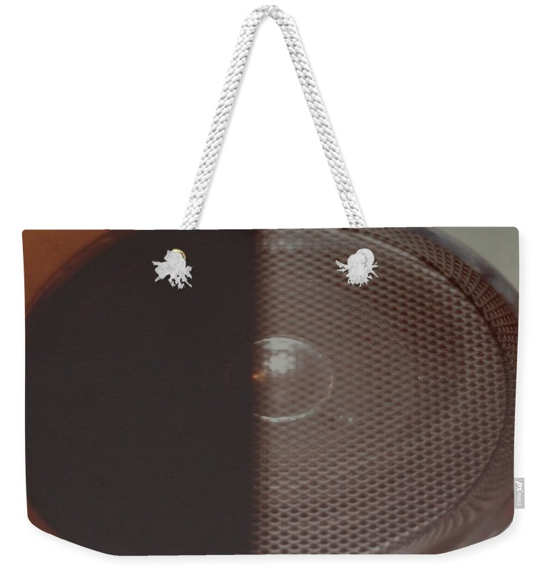 Abstract Weekender Tote Bag featuring the photograph Speaker by Rob Hans