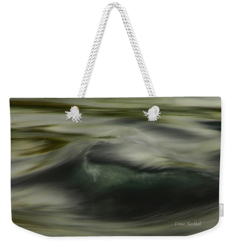 Water Weekender Tote Bag featuring the photograph Speaking Sofly by Donna Blackhall