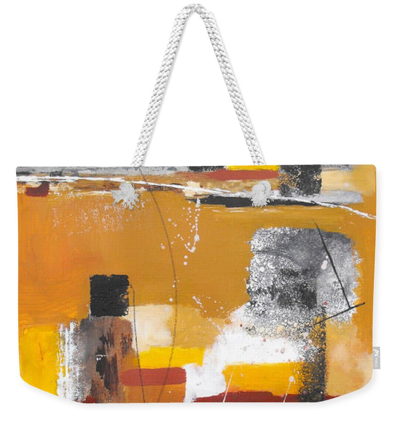 Abstract Weekender Tote Bag featuring the painting Special Circumstances II by Ruth Palmer