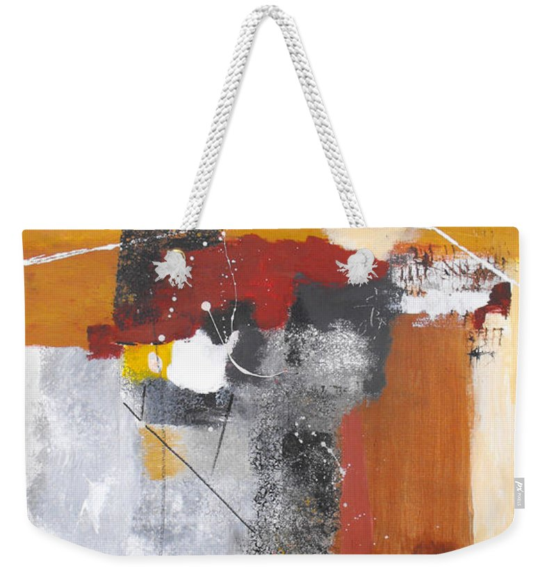 Abstract Weekender Tote Bag featuring the painting Special Circumstances by Ruth Palmer