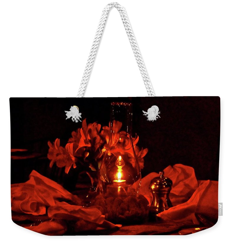 Candle Weekender Tote Bag featuring the photograph Special Occasion by Diana Hatcher