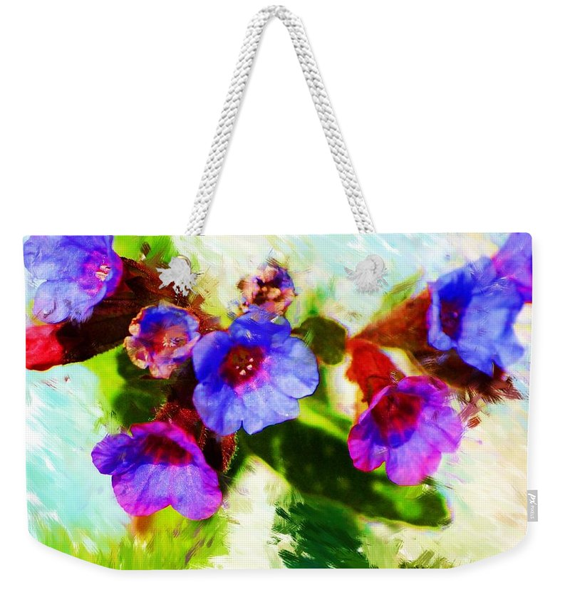 Abstract Weekender Tote Bag featuring the photograph Speckled Trout The Flower by David Lane
