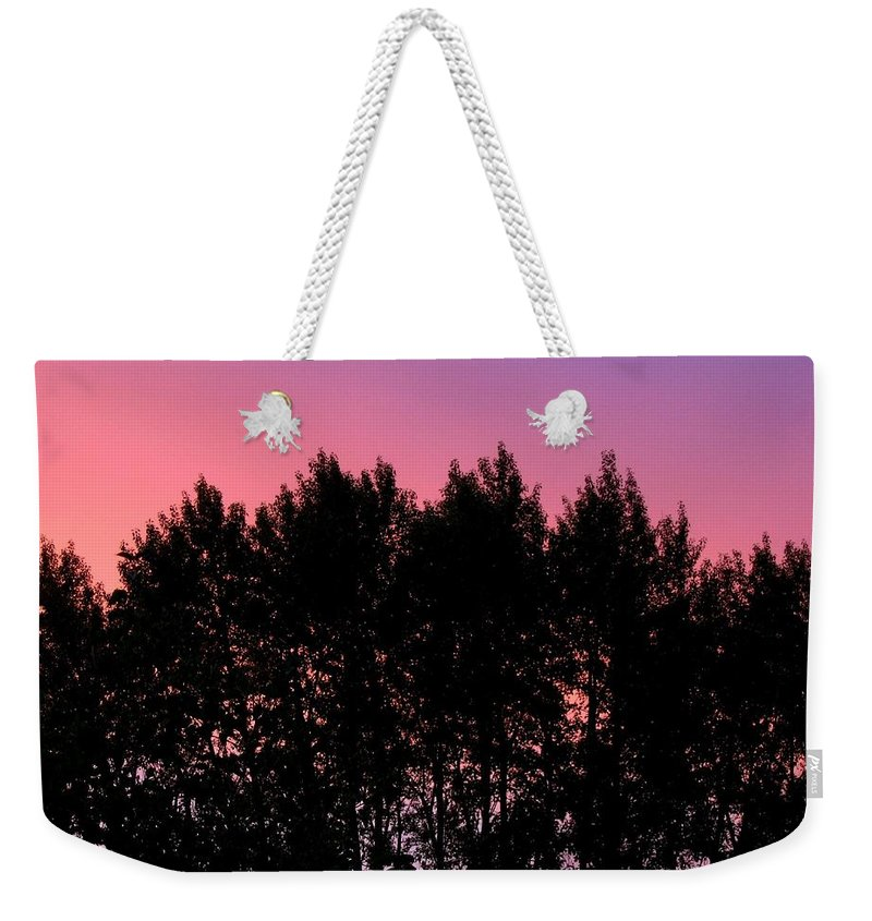 Silhouette Weekender Tote Bag featuring the photograph Spectacular Silhouette by Will Borden