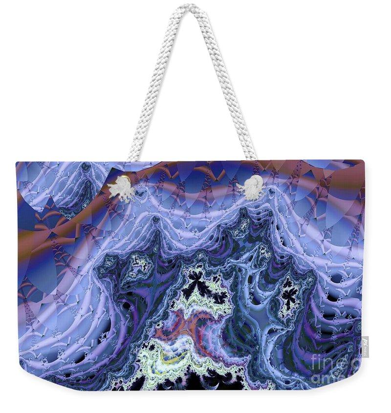 Fractal Weekender Tote Bag featuring the digital art Spectral by Ron Bissett