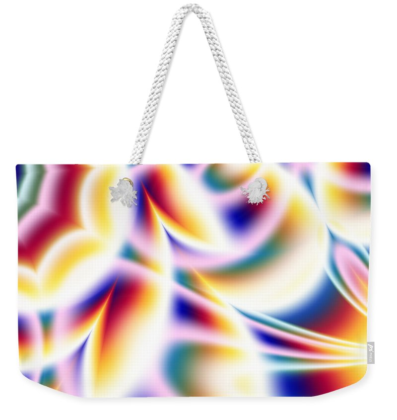 Art Weekender Tote Bag featuring the digital art Spectrum by Candice Danielle Hughes