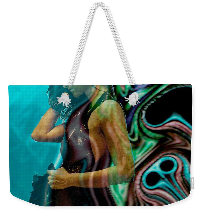 Beautiful Women Weekender Tote Bag featuring the digital art Spell Of A Woman by Seth Weaver