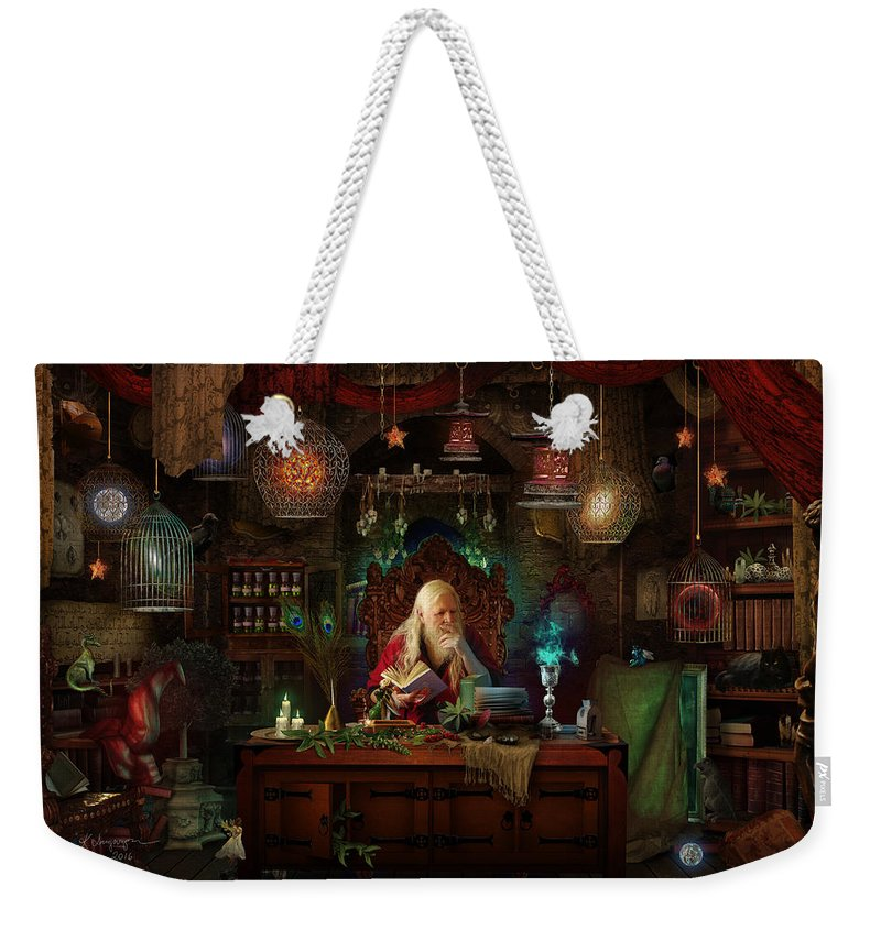 Fantasy Weekender Tote Bag featuring the digital art Spellbound by Cassiopeia Art