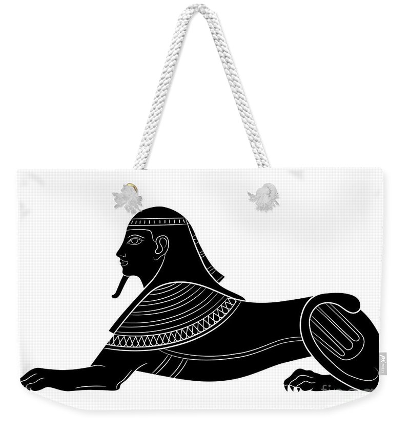 Art Weekender Tote Bag featuring the digital art Sphinx - Mythical Creature Of Ancient Egypt by Michal Boubin
