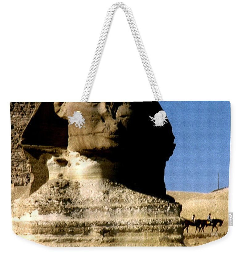 Sphinx Weekender Tote Bag featuring the photograph Sphinx by Gary Wonning