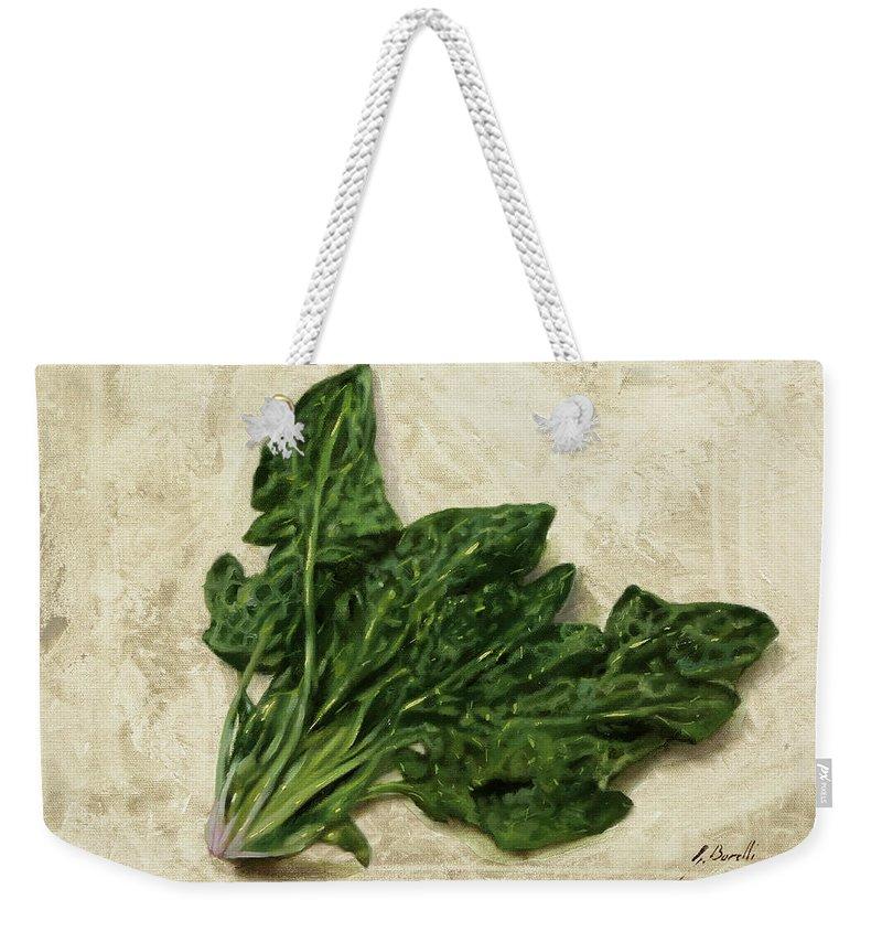Spinach Weekender Tote Bags
