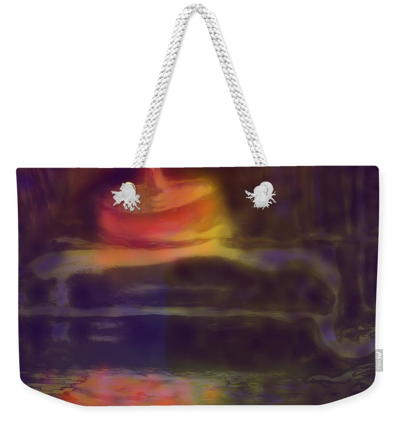 Abstract Weekender Tote Bag featuring the digital art Spinning Light by Ian MacDonald