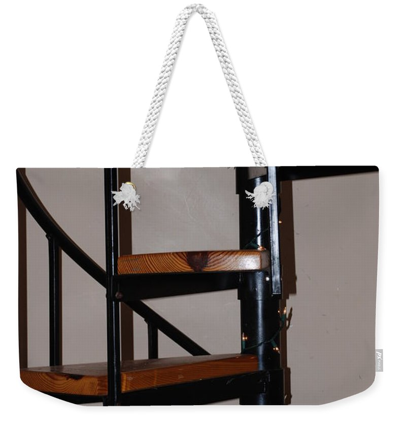 Stairs Weekender Tote Bag featuring the photograph Spiral Stairs by Rob Hans