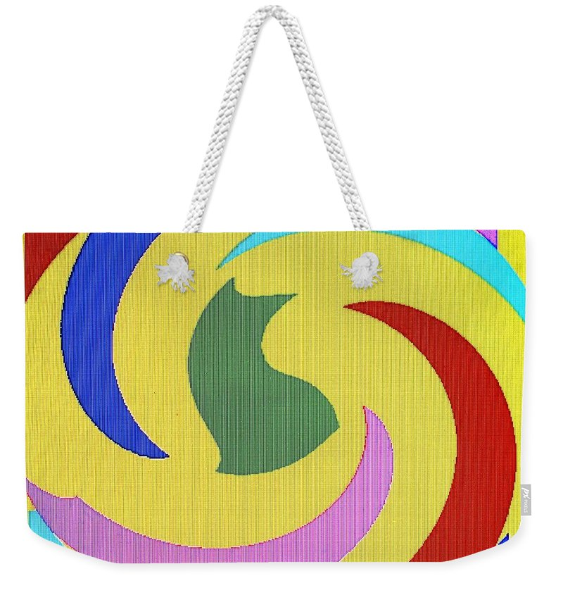 Abstract Weekender Tote Bag featuring the digital art Spiral Three by Ian MacDonald
